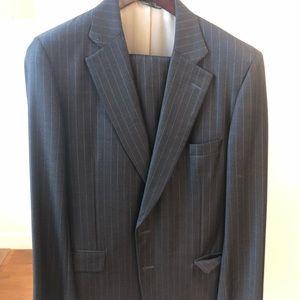 Paul Stuart wool pinstripe suit